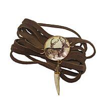 Hirschleder-Armband mit Medaillon