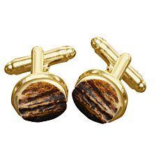 Manschettenknöpfe aus Hirschhorn, gold
