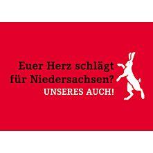 10er Pack Postkarte - Euer Herz schlägt für Niedersachsen