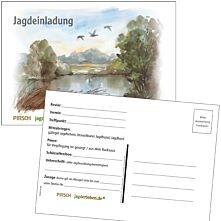 Postkarte Jagdeinladung See Mangold 5er-Set