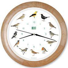 Wanduhr - Singvögel mit Quarzwerk, Aufnahmen aus der Natur