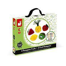 Kreativ-Set Früchte Pompoms