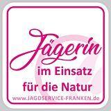 Autoschild Jägerin im Einsatz pink