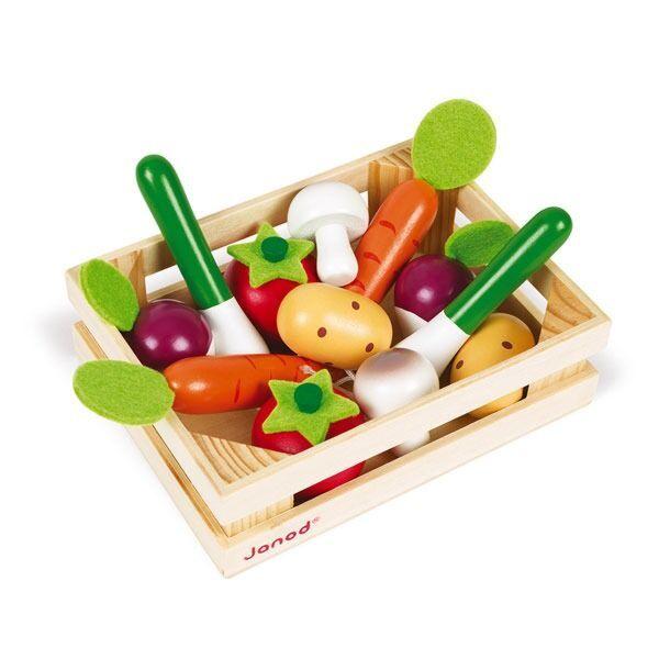 Holzspielzeug Gemüse Sortiment